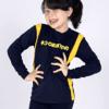 Objetivo Camiseta Manga Longa Azul Unissex