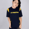 Objetivo Camiseta Manga Curta Azul Unissex